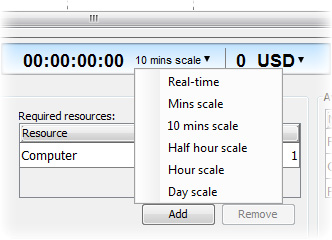Configurable time scale