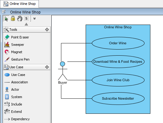 generate sequence diagram from use case flow of events   brilliant    open the use case diagram online wine shop  open ucd